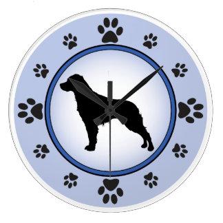 Perro de aguas de Bretaña bretón del francés de Reloj Redondo Grande