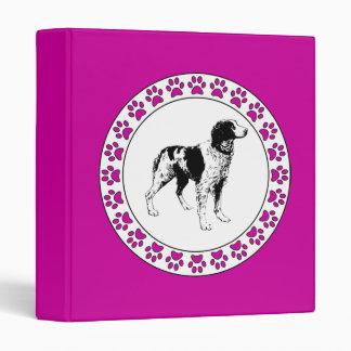 """Perro de aguas de Bretaña con Pawprints Carpeta 1"""""""