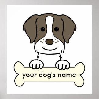 Perro de aguas de Bretaña personalizado Poster