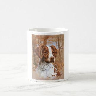 Perro de aguas de Bretaña Taza Básica Blanca
