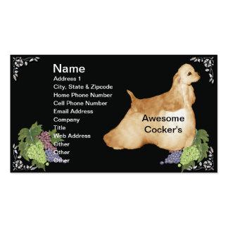 Perro de aguas de cocker impresionante tarjetas de visita