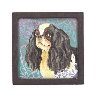 Perro de aguas de juguete inglés elegante caja de joyas de calidad