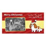 Perro de aguas de rey arrogante Charles de Chrstma Tarjeta Con Foto Personalizada