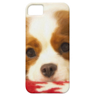 Perro de aguas de rey arrogante Charles del copo d iPhone 5 Case-Mate Cobertura