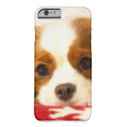 Perro de aguas de rey arrogante Charles del copo Funda De iPhone 6 Barely There