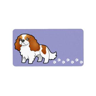 Perro de aguas de rey arrogante Charles del dibujo Etiqueta De Dirección