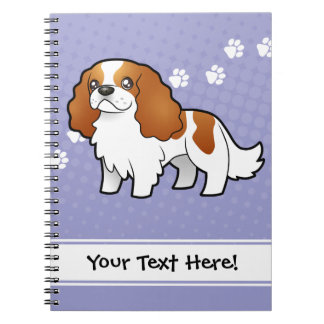 Perro de aguas de rey arrogante Charles del dibujo Spiral Notebooks