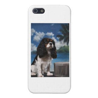 Perro de aguas de rey arrogante Charles del tri co iPhone 5 Funda