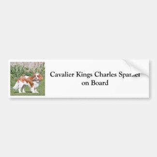 Perro de aguas de rey Charles arrogante a bordo el Pegatina Para Auto