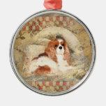 Perro de aguas de rey Charles arrogante Ornaments Para Arbol De Navidad