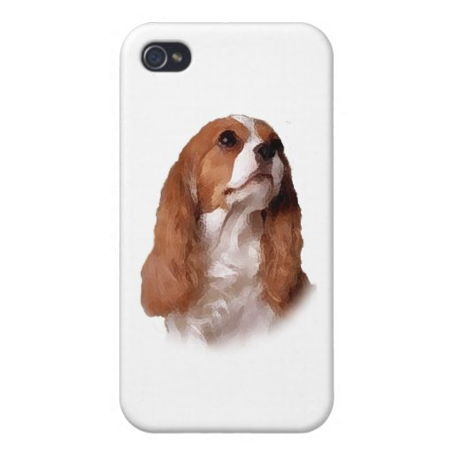 Perro de aguas de rey Charles arrogante iPhone 4/4S Carcasas