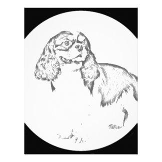"""""""Perro de aguas de rey Charles """" Membretes Personalizados"""
