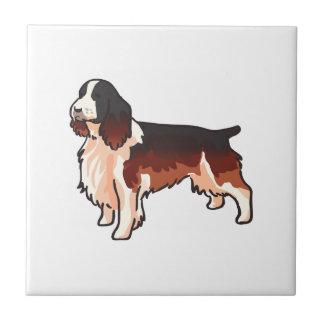 Perro de aguas de saltador azulejo cuadrado pequeño