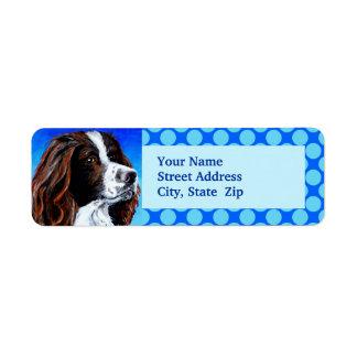 Perro de aguas de saltador etiqueta de remite