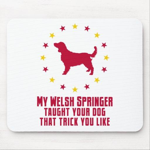 Perro de aguas de saltador galés alfombrillas de raton