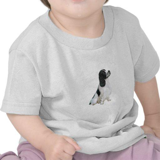 Perro de aguas de saltador inglés (a) - blanco y n camiseta