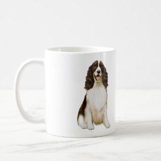 Perro de aguas de saltador inglés (b) - hígado y taza de café