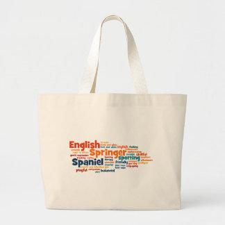 Perro de aguas de saltador inglés bolsa de tela grande