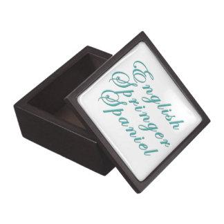 Perro de aguas de saltador inglés cajas de regalo de calidad