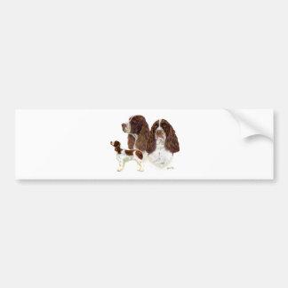Perro de aguas de saltador inglés etiqueta de parachoque