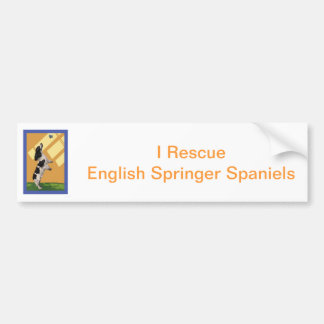 Perro de aguas de saltador inglés pegatina de parachoque