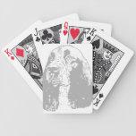 Perro de aguas de saltador inglés clásico barajas de cartas
