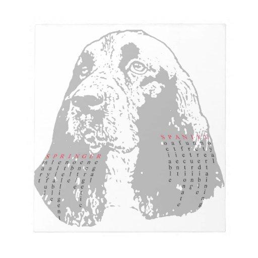 Perro de aguas de saltador inglés clásico libreta para notas