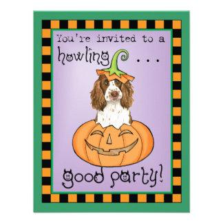 Perro de aguas de saltador inglés de Halloween Invitación