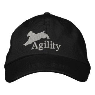 Perro de aguas de saltador inglés de la agilidad gorras de béisbol bordadas