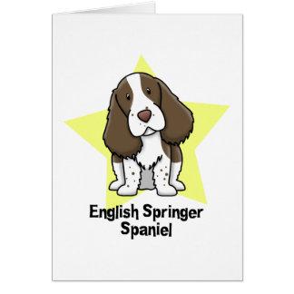 Perro de aguas de saltador inglés de la estrella d tarjeton
