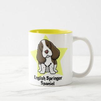 Perro de aguas de saltador inglés de la estrella d taza