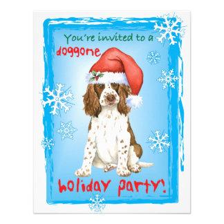 Perro de aguas de saltador inglés feliz de Howlida Invitacion Personal