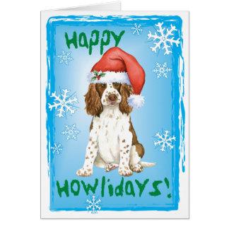 Perro de aguas de saltador inglés feliz de Howlida Felicitacion