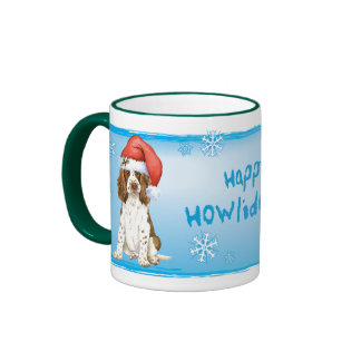 Perro de aguas de saltador inglés feliz de Howlida Taza De Café