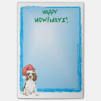 Perro de aguas de saltador inglés feliz de post-it nota