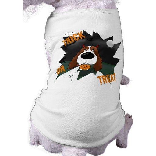 Perro de aguas de saltador inglés Halloween Camisetas De Mascota