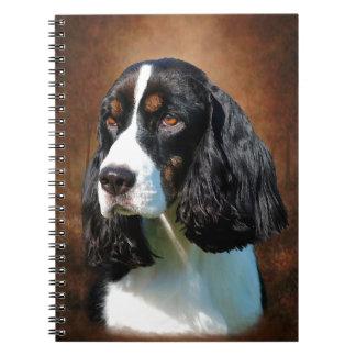 Perro de aguas de saltador inglés libro de apuntes