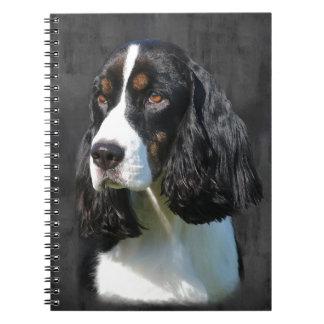 Perro de aguas de saltador inglés libro de apuntes con espiral