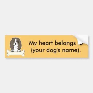 Perro de aguas de saltador inglés personalizado pegatina de parachoque