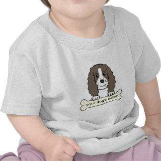 Perro de aguas de saltador inglés personalizado camiseta