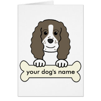 Perro de aguas de saltador inglés personalizado tarjeta