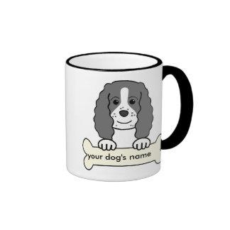 Perro de aguas de saltador inglés personalizado tazas de café