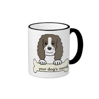 Perro de aguas de saltador inglés personalizado taza