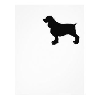 Perro de aguas de saltador inglés Silhoutee, Plantilla De Membrete