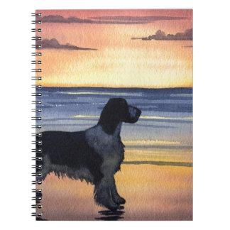 Perro de aguas de saltador libros de apuntes
