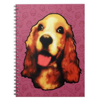 Perro de aguas de saltador libros de apuntes con espiral