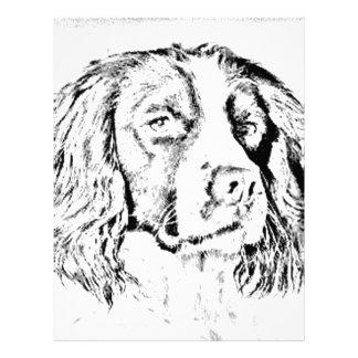 Perro de aguas de saltador plantilla de membrete