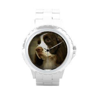 Perro de aguas de saltador reloj de mano