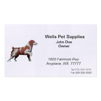 Perro de aguas de saltador tarjetas de visita
