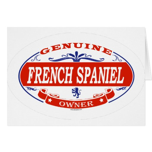 Perro de aguas francés tarjeta